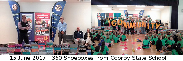 2017 Shoebox Appeal Cooroy State School