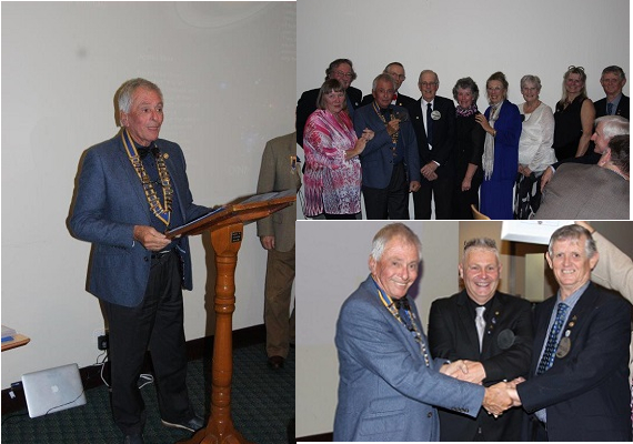 Changeover President O'Neill, Board and New member